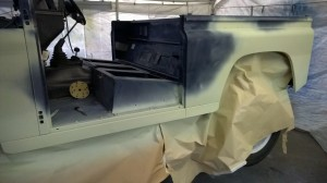 Defener td5 body repairs primed
