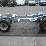 Re-galvanised Land Rover Chassis