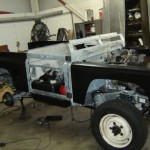 galvanised defender mock up  build